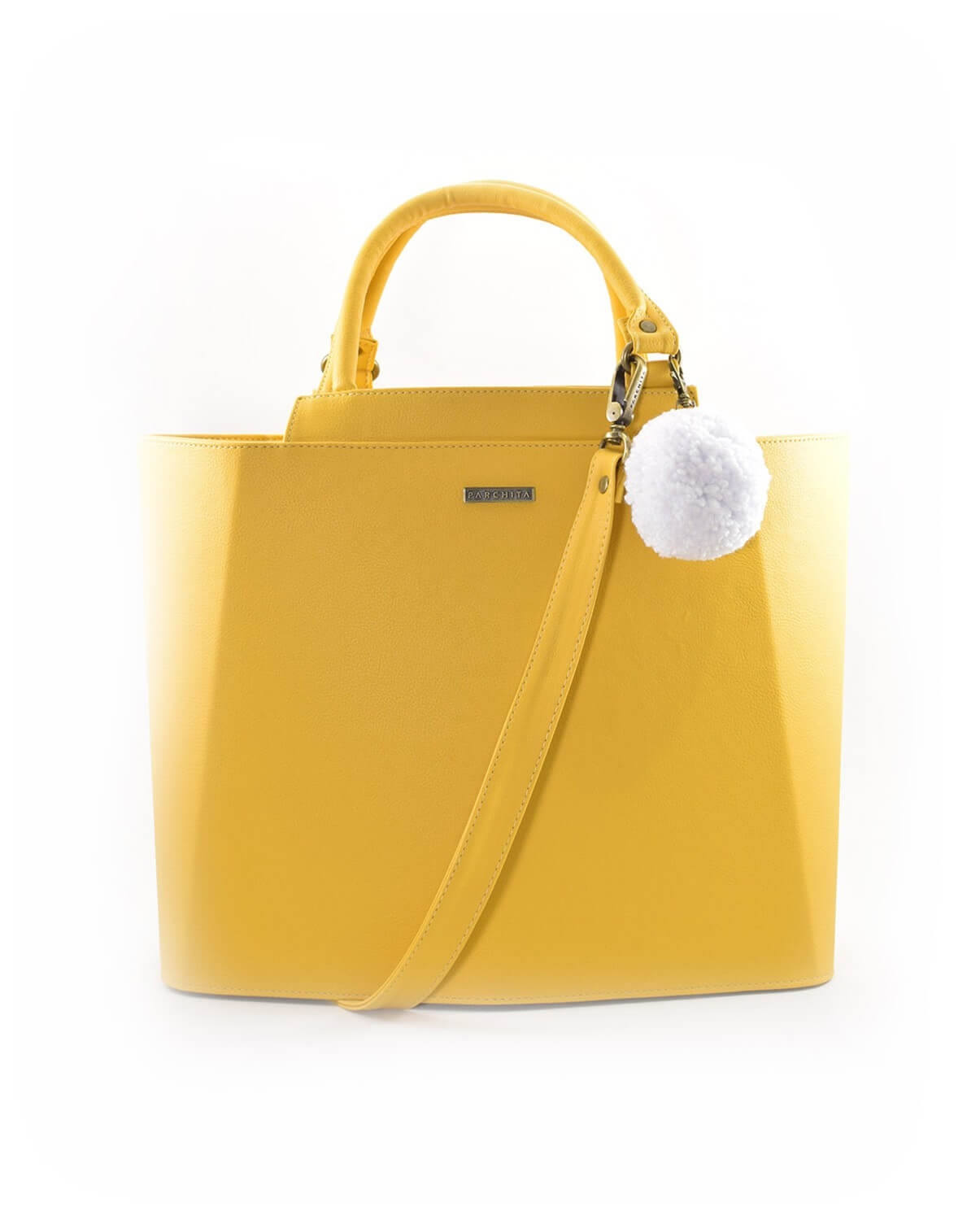 Cartera Piramidal Amarillo